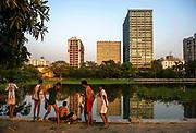 Calcutta seen from the Maidan, its huge green lung.