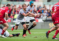 Southern Kings' Rudi van Rooyen ©  in action during todays match.<br /> Guinness Pro14 rugby match, Scarlets v Southern Kings at the Parc y Scarlets in Llanelli, Carms, Wales on Saturday 2nd September 2017.<br /> pic by Craig Thomas, Andrew Orchard sports photography.