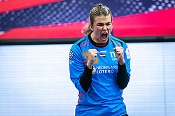 Tess Wester of Netherlands in action during the Women's EHF Euro 2020 match between Netherlands and Germany at Sydbank Arena on december 14, 2020 in Kolding, Denmark (Photo by RHF Agency/Ronald Hoogendoorn)