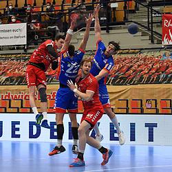 Ludwigshafens Azat Valiullin (Nr.55) beim Wurf beim Spiel in der Handball Bundesliga, Die Eulen Ludwigshafen - HBW Balingen-Weilstetten.<br /> <br /> Foto © PIX-Sportfotos *** Foto ist honorarpflichtig! *** Auf Anfrage in hoeherer Qualitaet/Aufloesung. Belegexemplar erbeten. Veroeffentlichung ausschliesslich fuer journalistisch-publizistische Zwecke. For editorial use only.