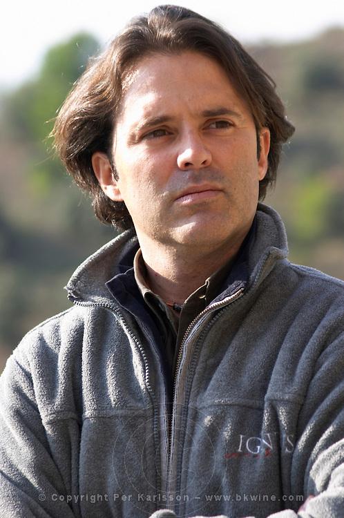 Francesc Vernet Rigual, winemaker. Mas Igneus, Gratallops, Priorato, Catalonia, Spain.