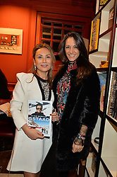 ***UK_MAGAZINES_OUT***<br /> LONDON, ENGLAND 30 NOVEMBER 2016: <br /> Left to right, Homera Sahni, Francesca Lana Agostinelli at the launch of In The Spirit of Gstaad at Maison Assouline, Piccadilly, London hosted by Mandolyna Theodoracopulos and Homera Sahni England. 30 November 2016.