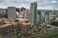 Meridian Condominiums (center left), CityFront Terrace (lower left) & Pinnacle Marina Tower (center)