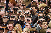 Spectators at the Cheltenham races, Gloucestershire, United Kingdom.