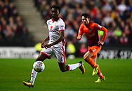 Gboly Ariyibi of MK Dons in action .EFL Skybet football league one match, MK Dons v Northampton Town at the Stadium MK in Milton Keynes on Tuesday 26th September 2017.<br /> pic by Bradley Collyer, Andrew Orchard sports photography.