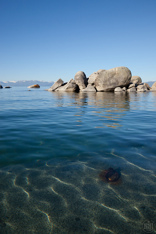 """""""Boulders on Lake Tahoe 22"""" - These boulders were photographed in the morning near Speedboat Beach, Lake Tahoe."""