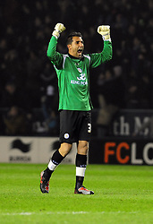 Leicester City's Ricardo celebrates Leicester City's opening goal - Photo mandatory by-line: Joe Meredith/JMP - 18/02/2011 - SPORT - FOOTBALL - Championship - Leicester City v Bristol City  - Walkers Stadium, Leicester, England