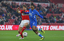 Ivan Toney of Peterborough United in action with George Friend of Middlesbrough - Mandatory by-line: Joe Dent/JMP - 05/01/2019 - FOOTBALL - Riverside Stadium - Middlesbrough, England - Middlesbrough v Peterborough United - Emirates FA Cup third round proper