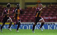 Photo: Paul Thomas.<br /> Bradford v Bristol City. Coca Cola League 1. 08/08/2006.<br /> <br /> Dean Windass (R) of Bradford celebrates his goal.