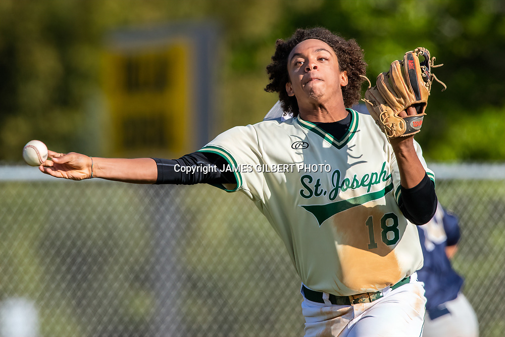 SJA hosted Sandalwood in a Baseball game at St Joesph's Academy in St Augustine, Florida on Tuesday April 2, 2019. Mandatory Credit-James Gilbert Photo.<br /> <br /> James Gilbert<br /> 9044955729<br /> JamesGilbertPhoto@gmail.com