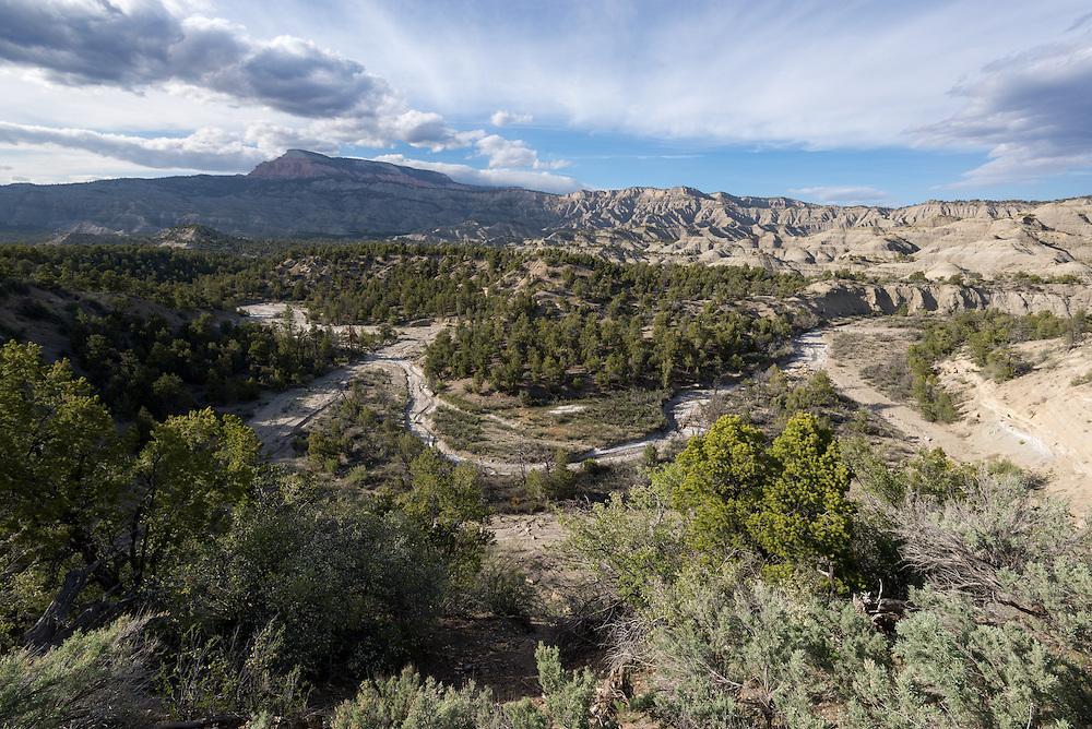 Henrieville Creek and The Blues badlands, Southern Utah.