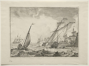 Ships in a Gale 1701 Ludolf Backhuysen (Dutch, 1631-1708), Etching