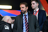 England manager Gareth Southgate in the stand during the U21 International match between England and Germany at the Vitality Stadium, Bournemouth, England on 26 March 2019.