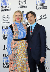 Greta Gerwig and Noah Baumbach at the 35th Annual Film Independent Spirit Awards held at the Santa Monica Beach in Santa Monica, USA on February 8, 2020.