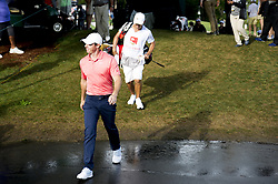 May 5, 2019 - Charlotte, North Carolina, United States of America - Rory McIlroy approaches the sixteenth tee after finishing the fifteenth hole shortly after a weather delay during the final round of the 2019 Wells Fargo Championship at Quail Hollow Club on May 05, 2019 in Charlotte, North Carolina. (Credit Image: © Spencer Lee/ZUMA Wire)