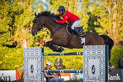 Garcia Juan Carlos (ITA) - Bonzai van de Warande<br /> Final First Competition<br /> Furusiyya FEI Nations Cup™ Final - Barcelona 2014<br /> © Dirk Caremans<br /> 09/10/14