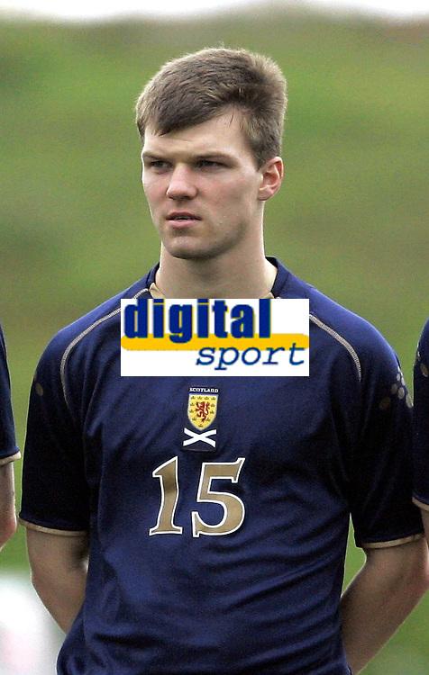Fotball / Football<br /> International U 19 Team Tournament<br /> Norge v Skottland 1-2<br /> Norway v Scotland 1-2 at La Manga - Spain<br /> 08.02.2007<br /> Foto: Morten Olsen, Digitalsport<br /> <br /> Portretter Skottland / Portraits Scotland<br /> <br /> Fraser McLaren - Gretna