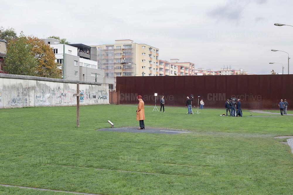Il memoriale del Muro di Berlino su Bernauer strasse. Berlino, Germania, 14 ottobre 2014. Guido Montani / OneShot<br /> <br /> The Wall Memorial on Bernauer Strasse. Berlin, Germany, 14 ottobre 2014. Guido Montani / OneShot