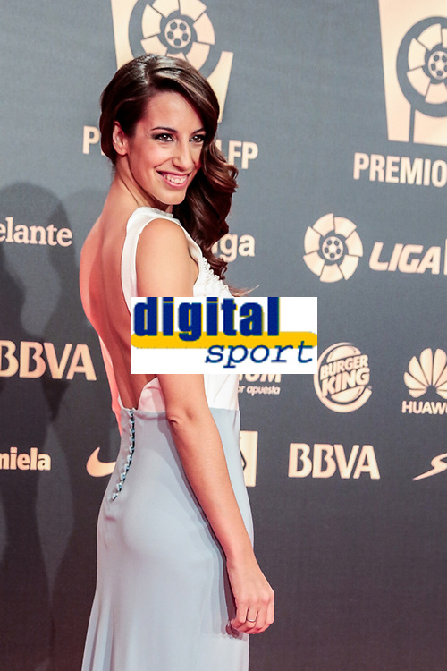 Almudena Cid during the red carpet of the Liga de Futbol Profesional Awards in Madrid. October 27, 2014. (ALTERPHOTOS/Jose Luis Frias)