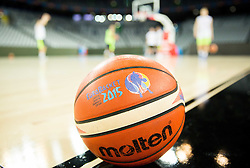 Ball during practice session of Slovenia National Basketball Team 1 day prior to the FIBA Europe Eurobasket 2015, on September 4, 2015, in Arena Zagreb, Croatia. Photo by Vid Ponikvar / Sportida