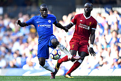 Liverpool's Sadio Mane (right) and Chelsea's N'Golo Kante battle for the ball during the Premier League match at Stamford Bridge, London.