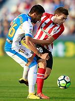 CD Leganes' Mauro Dos Santos (l) and Athletic de Bilbao's Inigo Cordoba during La Liga match. October 22,2017. (ALTERPHOTOS/Acero)