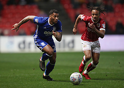 Bristol City's Bobby Reid and Birmingham City's David Davis