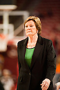Jan 8, 2012; Fayetteville, AR, USA; Tennessee Lady Volunteers head coach Pat Summitt reacts to a call during a game against the Arkansas Razorbacks at Bud Walton Arena. Tennessee defeated Arkansas 69-38. Mandatory Credit: Beth Hall-US PRESSWIRE