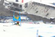 SOELDEN, AUSTRIA. OCTOBER 17 2020:  1st Women's Giant Slalom as part of the Alpine Ski World Cup in Solden on October 17, 2020; Run 1, Federica Brignone (ITA) in action in front of an empty tribune ( Pierre Teyssot/ESPA Images-Image of Sport)