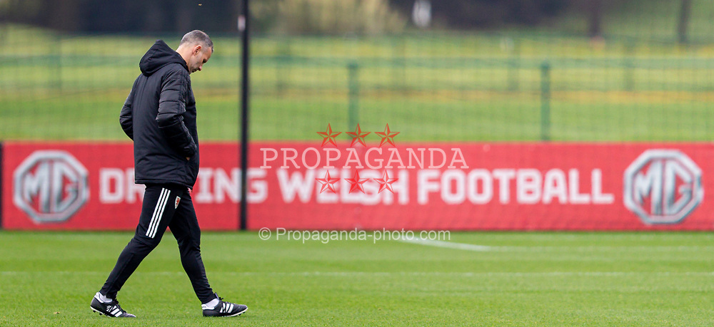 CARDIFF, WALES - Monday, October 5, 2020: Wales' manager Ryan Giggs during a training session at the Vale Resort ahead of the International Friendly match against England. (Pic by David Rawcliffe/Propaganda)