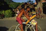 Boys with bread, Bora Bora, French Polynesia<br />