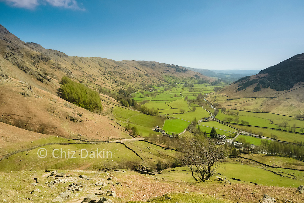 Great views down Langdale as you ascend around Pike Howe
