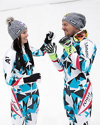 08.10.2016, Olympia Eisstadion, Innsbruck, AUT, OeSV Einkleidung Winterkollektion 2016, im Bild v.l. Anna Veith, Marcel Hirscher // f.l. Anna Veith Marcel Hirscher during the Outfitting of the Ski Austria Winter Collection at the Olympia Eisstadion in Innsbruck, Austria on 2016/10/08. EXPA Pictures © 2016, PhotoCredit: EXPA/ Johann Groder