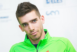 Ales Zver during press conference of Slovenian Team for European Indoor Athletics Championships Prague 2015, on March 4, 2015 in Ljubljana, Slovenia. Photo by Vid Ponikvar / Sportida