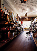 Looking down the aisle of a mom and pop hardware store in Raleigh, North Carolina