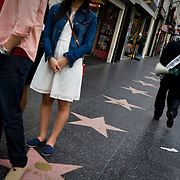 Street scenes along Hollywood Boulevard.