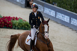 Cordon Pilar, ESP, Gribouille du Lys<br /> Furusiyya FEI Nations Cup Jumping Final - Barcelona 2016<br /> © Hippo Foto - Dirk Caremans<br /> 22/09/16
