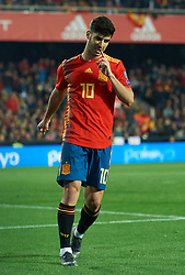 March 23, 2019 - Valencia, Valencia, Spain - Marco Asensio of Spain national team reacts during the European Qualifying round Group F match between Spain and Norway at Estadio de Mestalla, on March 23 2019 in Valencia, Spain  (Credit Image: © Maria Jose Segovia/NurPhoto via ZUMA Press)