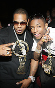 """l to r: Busta Ryhmes and Souljah Boy at The YRB Magazine's """" How You Rock It 3 """" with a special performance by Busta Ryhmes and hosted by YRB held at M2 Lounge on May 19, 2009 in New York City."""