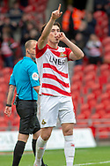 Doncaster Rovers forward John Marquis celebrates as he scores his second goal of the match 2-0 during the EFL Sky Bet League 1 match between Doncaster Rovers and Bradford City at the Keepmoat Stadium, Doncaster, England on 22 September 2018.