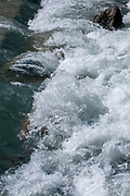 Rushing white water stream. Photographed in Stubai Valley, Tyrol, Austria