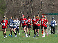 St Paul's School girls varsity lacrosse with Andover.  Karen Bobotas for St Paul's School.