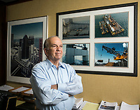 Ronald Tutor, Chairman and CEO of Tutor Perini, in his office in Sylmar, CA. Shot June 13, 2013.  Photo by David Sprague ©2013