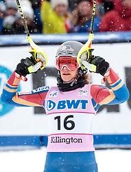 26.11.2017, Killington, USA, FIS Weltcup Ski Alpin, Killington, Slalom, Damen, 2. Lauf, im Bild Resi Stiegler (USA) // Resi Stiegler of the USA in cation reacts after her 2nd run of ladie's Slalom of FIS ski alpine world cup in Killington, United Staates on 2017/11/26. EXPA Pictures © 2017, PhotoCredit: EXPA/ Johann Groder