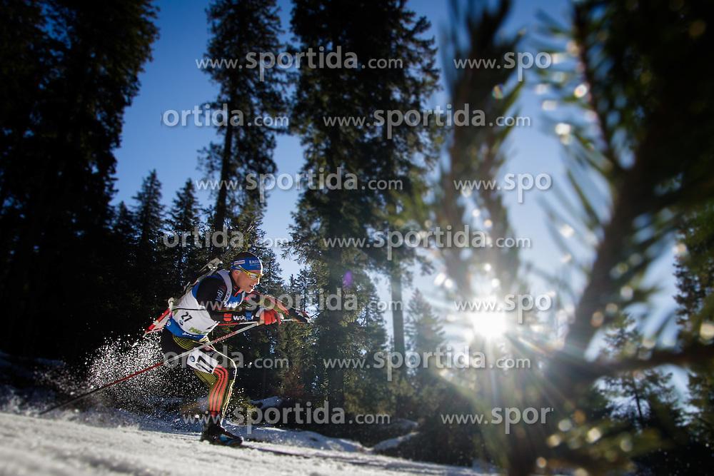 Erik Lesser (GER) during Men 15 km Mass Start at day 4 of IBU Biathlon World Cup 2015/16 Pokljuka, on December 20, 2015 in Rudno polje, Pokljuka, Slovenia. Photo by Ziga Zupan / Sportida