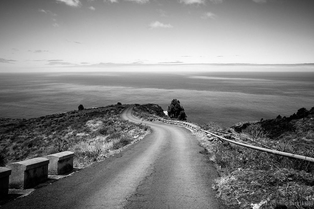 Carretera al Porís (Puerto) de Candelaria, Tijarafe, La Palma, Canarias, España, Europa