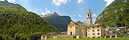 Baroque church at Sonogno, Val Verzasca, Tocino, Swiss alps