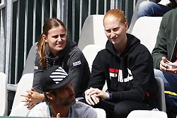May 28, 2019 - Paris, France - PARIS, FRANCE - MAY 28 : Greet Minnen - Alison Van Uytvanck Monica Puig (Pur) v Kirsten Flipkens (Bel) during the first round of the French Open of Roland-Garros , on May 28, 2019 in Paris, France. (Credit Image: © Panoramic via ZUMA Press)