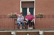 Locals were out in force during stage 17 of the Giro D'Italia, Iseo Italy on 23 May 2018. Picture by Graham Holt.