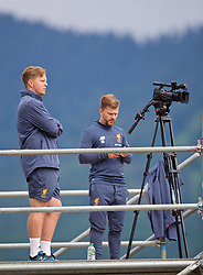 ROTTACH-EGERN, GERMANY - Friday, July 28, 2017: Liverpool's video analysis during a training session at FC Rottach-Egern on day three of the preseason training camp in Germany. (Pic by David Rawcliffe/Propaganda)